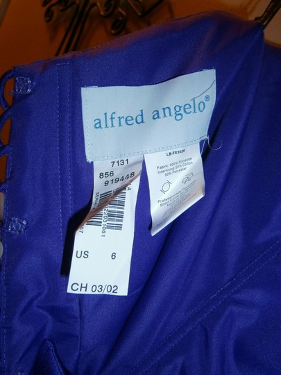 Alfred Angelo Other Satin Style 7131 In Viola Traditional Bridesmaid/Mob Dress Size 6 (S)