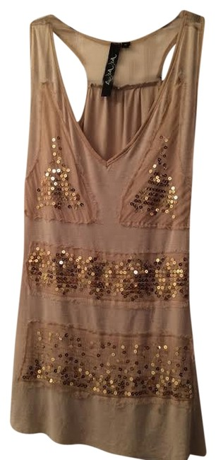 Lu Luvia Sequin Top Nude