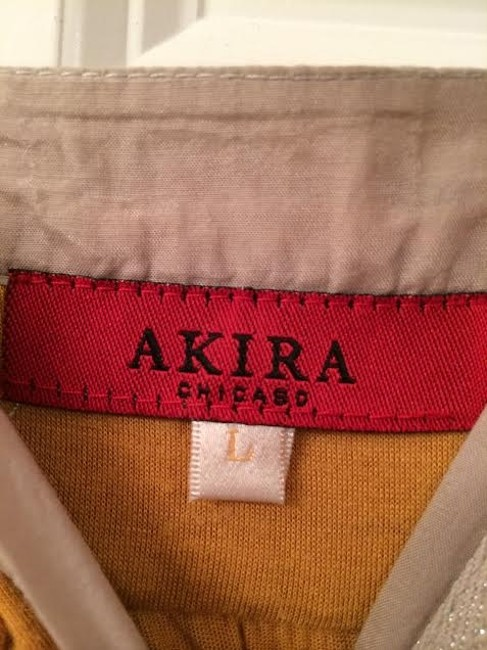 Akira Date Night Top Mustard Yellow