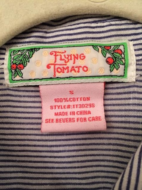 Flying Tomato Button Down Shirt Striped