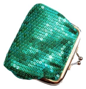 Green Sequin Change/Coin Purse Wallet Free Shipping