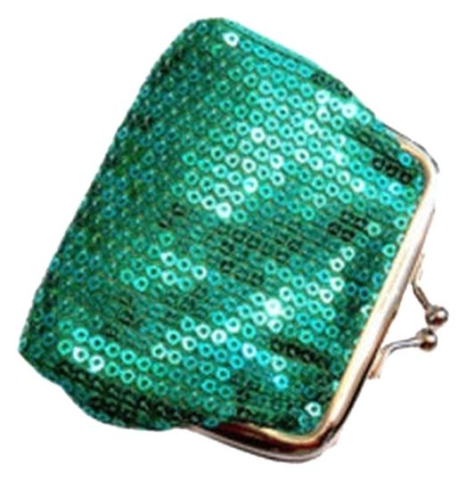 Other Green Sequin Change/Coin Purse Wallet Free Shipping