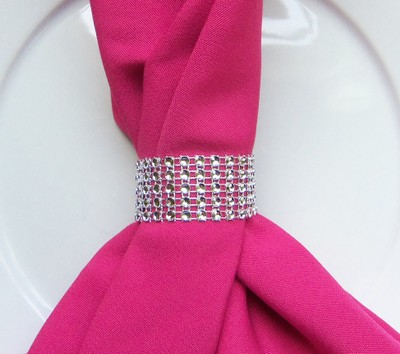 400 Wedding Event Bling Napkin Rings