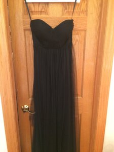 Jenny Yoo Black Tulle Bhldn Annabelle By Formal Bridesmaid/Mob Dress Size 6 (S)