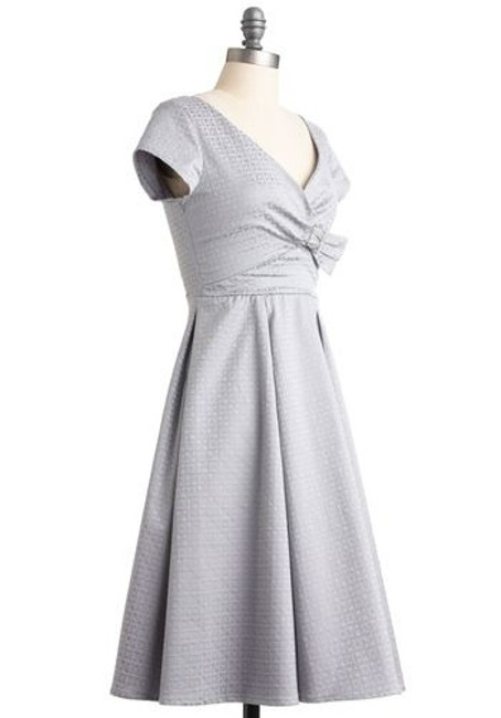 Modcloth Vintage-inspired 50s Wedding Formal Tea Length Dancing Winter New Year's Eve Dress