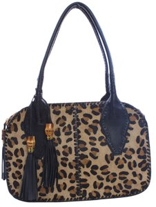 Clever Carriage Company Pony Hair Leather Shoulder Bag