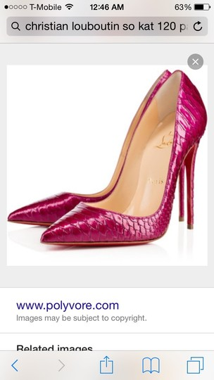 Christian Louboutin So Kate 120 Pigalle Clutch Patent 3607416629411 Wine or plum Pumps