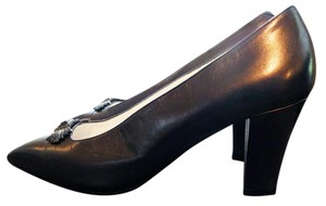Andrea Pfister Couture Extraordinary Purplish Brown Metallic Pumps