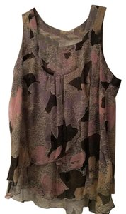Forever 21 Date Chiffon Chic Top Patterned
