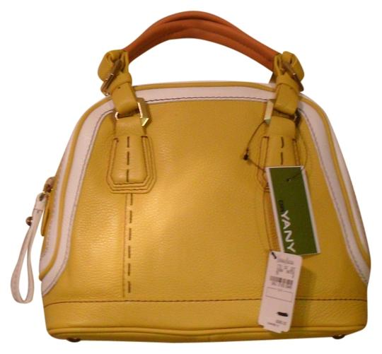orYANY Trixie Colorblock Lemon Leather Mini Satchel in Yellow