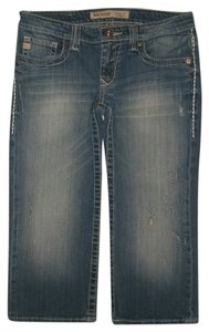 Big Star Capri/Cropped Denim-Distressed