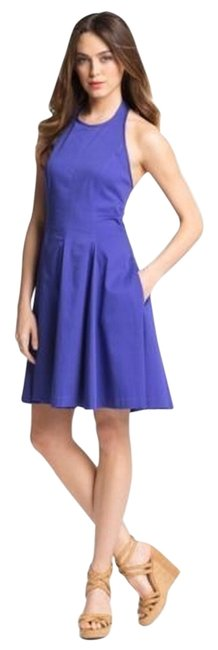 Preload https://item1.tradesy.com/images/jessica-simpson-blue-fit-and-flare-halter-short-casual-dress-size-6-s-5146450-0-0.jpg?width=400&height=650