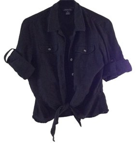 Jones New York Button Down Shirt Black