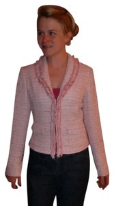 Cache Pink & White Tweed Blazer