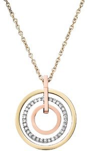 Michael Kors Set Tri-Tone Circle Pendant & Earrings