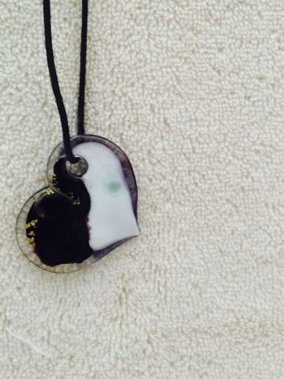 Other Necklace Heart witt Gold inlay & other colors