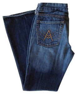 7 For All Mankind Denim Designer Flare Leg Jeans-Medium Wash