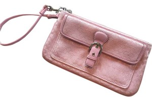 Coach Pink Wallet Style Wristlet in Blush