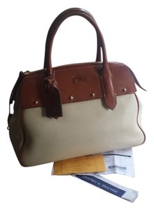 Dooney & Bourke Leather D&b Vintage Handbag Satchel in Bone and Tan