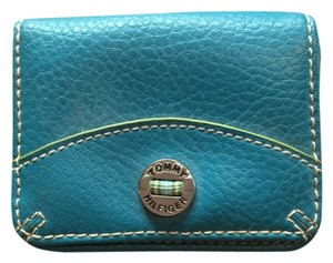 Tommy Hilfiger Aqua Green Lime Coin Purse Teal Clutch