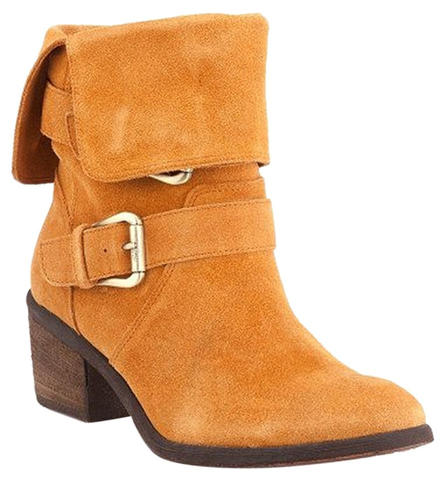 Donald J. Leather Pliner Tan In Suede Leather J. Buckle Boots/Booties 50f34b