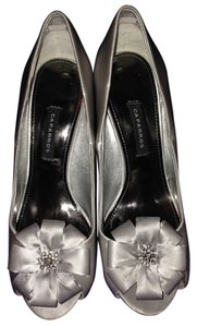 Caparros Metallic Studded Embellished silver Formal