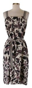 BCBGMAXAZRIA short dress Floral Print with cream, navy and purple on Tradesy
