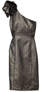 H&M Ruffle Romantic Military Shiny Crisp Romance Dress