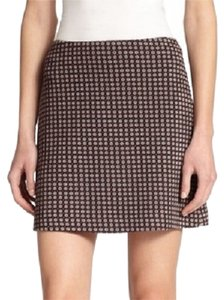 Theory Kerash Textured Skirt Navy, Crimson