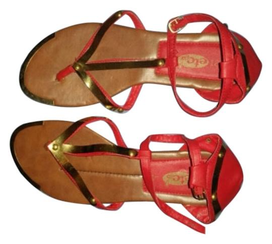Rue 21 Red/Gold Sandals