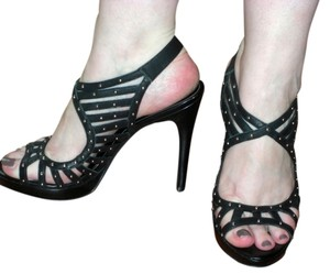 Jessica Simpson Studded High Heel Black Sandals