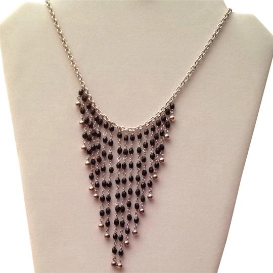 Preload https://item3.tradesy.com/images/none-sterling-silver-925-and-black-necklace-5149417-0-0.jpg?width=440&height=440