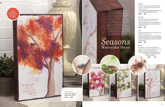 Blessings unlimited Seasons watercolor wall decor