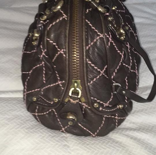 Juicy Couture Leather Sale Fancy Satchel in Brown And Pink