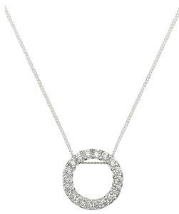 B. Brilliant 2 Piece listing...'Circular chic' Pendant & Sterling Silver Cubic Zirconia Stick Drop Earrings (3/4 ct. t.w.)
