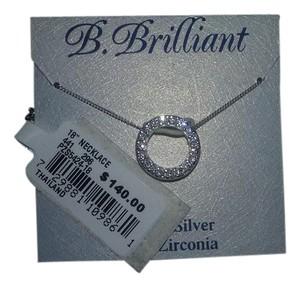 B. Brilliant 'Circular chic' Pendant & Cubic Zirconia Stick Earrings