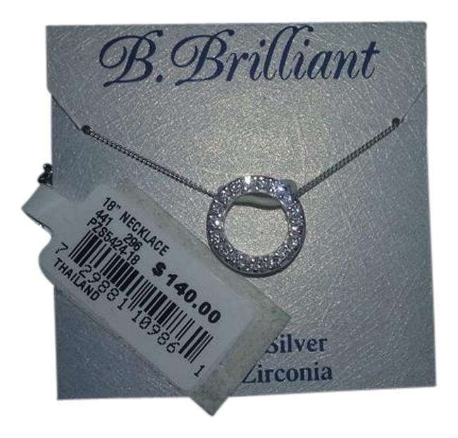 Item - Two Piece Set-'circular Chic' Pendant & Cubic Zirconia Stick Earrings Necklace