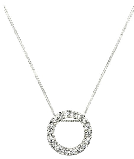 B. Brilliant TWO PIECE SET-'Circular chic' Pendant & Cubic Zirconia Stick Earrings