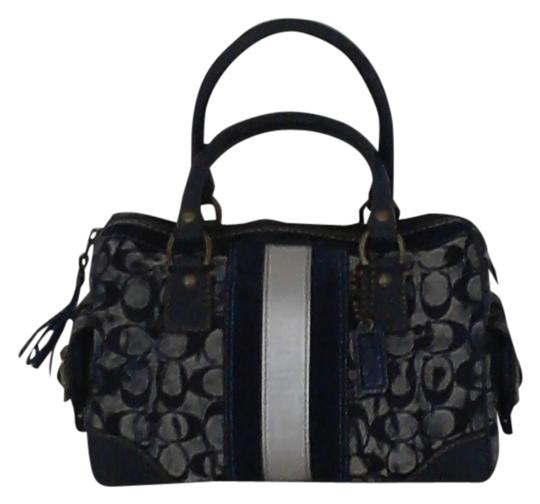 Coach Satchel in Multi-shade blue