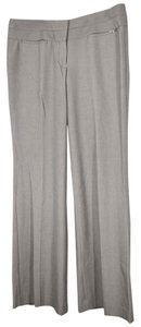 Express Editor Dress Flare Wide Leg Studio Stretch Wide Waist Band Stacked Waist Band Trouser Pants taupe pin stripe
