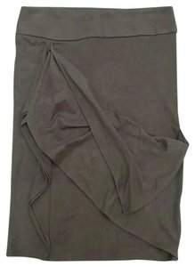 Ronen Chen Draped Business Israel Designer Unique Skirt Light Brown