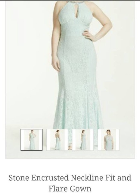 Item - Mint Sequins and Stone Evening Gown Formal Bridesmaid/Mob Dress Size 16 (XL, Plus 0x)