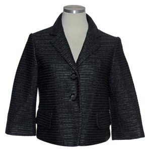 Robert Rodriguez Textured 3/4 Sleeve Lined Black Jacket