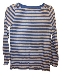J.Crew Painter Boatneck Stripes T Shirt Blue and white