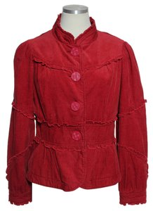 Elevenses Anthropologie Corduroy Lined Red-Orange Jacket