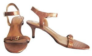 Lauren Ralph Lauren Leather Bronze Sandals