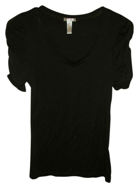 Wet Seal Gathered Sleeve T Shirt brown