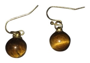 Brown ball earrings