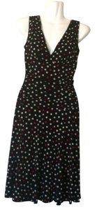 Velvet Torch Ruched Waist Polka Dot Dress