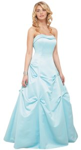 Mori Lee Satin Sculptured Strapless Sweetheart Princess Line A-line Ball Gown Full Length Dress